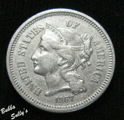 1867 III Cent Nickel <> EXTREMELY FINE