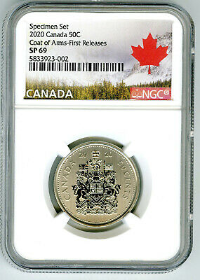2020 Canada 50 Cent Ngc Sp69 First Releases Half Dollar Coat Of Arms