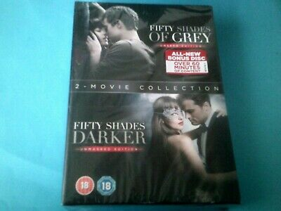 DVD  FIFTY SHADES OF GREY / FIFTY SHADES DARKER  2 MOVIE COLLECTION New/Sealed