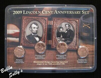 2009 Lincoln Cent Anniversary 4-Coin Set <> UNCIRCULATED