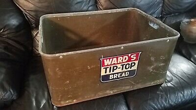 Vintage and Rare Ward's Tip Top Bread delivery crate basket bin by Kennett