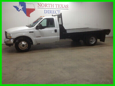 2004 Ford Super Duty F-350 DRW FREE HOME DELIVERY! XL Diesel Dually Flatbed Sing 2004 FREE HOME DELIVERY! XL Diesel Dually Flatbed Singl Used Automatic Rear