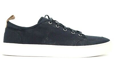 Toms Hommes Paseo Chambray Noir Toile à Lacets Chaussures Mode US 13 Ue 46