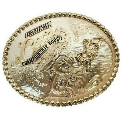 Coors Original Championship Rodeo Bull Rider Belt Buckle by Montana Silversmiths