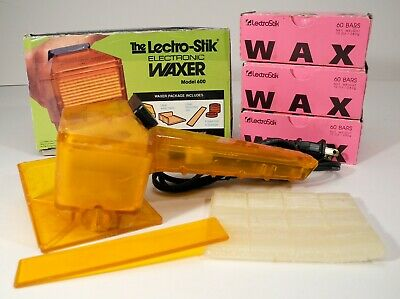 Lectro-Stik Electronic Waxer Model 600 Complete in Box w/2-½ Boxes Wax - NICE