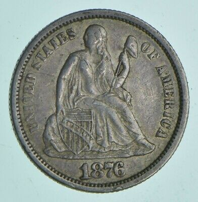 1876 Seated Liberty Dime - Charles Coin Collection *350