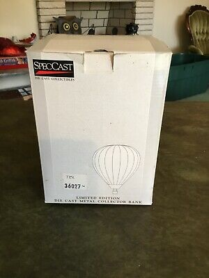 Vintage Texaco Speccast Hot Air Balloon Die Cast Metal Collector Bank