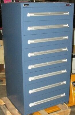 "New Stanley Vidmar Industrial Storage Cabinet 8 Drawer - 30"" x 28"" x 59"""