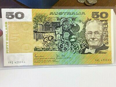 ND (1982-84) AUSTRALIA $50 Fifty Dollars note, vintage currency, Johnston/Stone