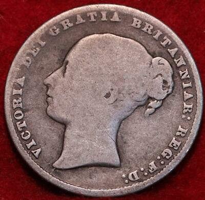 1865 Great Britain One Shilling Silver Foreign Coin
