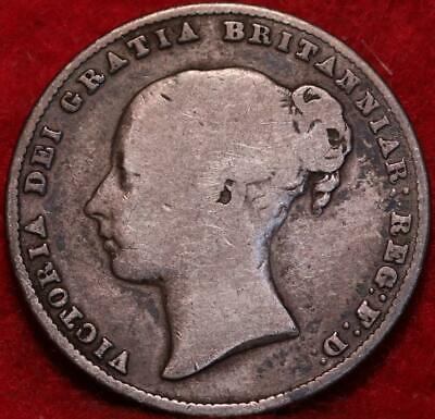 1861 Great Britain One Shilling Silver Foreign Coin