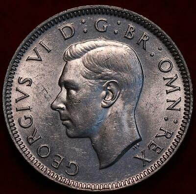 Uncirculated 1943 Great Britain One Shilling Silver Foreign Coin