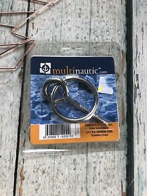 "New MULTINAUTIC O.D. MOORING RING LAG SCR 2.5"" Stainless Steel Boat Part Anchor"