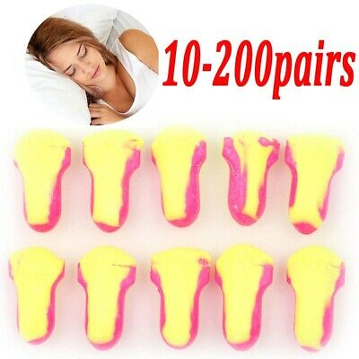 1-200 Pairs Howard Leight Laser Lite Soft Foam Ear Plugs 35db Snoring Sleep Aid
