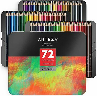 Professional Soft Wax Based Cores Drawing Sketching Shading 72 Colours Adults