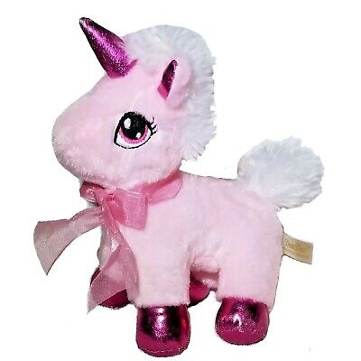 """Dan Dee Collector's Choice 8"""" Pink White Unicorn Plush Shimmer Super Soft Clean!"""