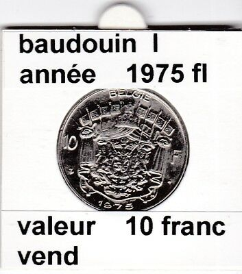 FB 2 )pieces de baudouin  10 francs 1975  belgie