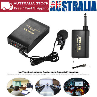 Wireless Microphone Lavalier Lapel Mic Receiver Transmitter for Lecturer J5K9