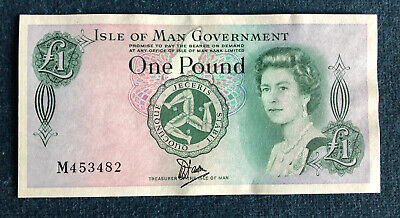 ISLE OF MAN ONE POUND BANKNOTE (1983) P38a M453482
