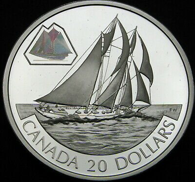 CANADA 20 Dollars 2000 Proof - Silver - The Bluenose - 1616 ¤