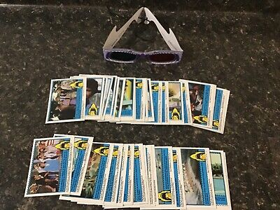 Complete 44 Card Set 1983 3-D Jaws Trading Cards Topps + 3-D Shark Glasses
