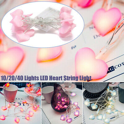 Led Fairy String Lights Heart Shaped Girls Bedroom Light Romantic Party Decor Uk 3 99 Picclick Uk