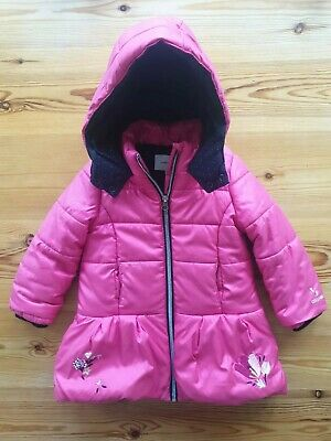 Catimini Pink Girls Hooded Coat. Age 2 Years. Padded VGC