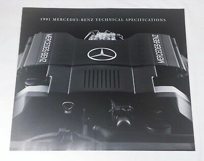 1991 Mercedes Benz Technical Specifications Brochure 12 page Folder