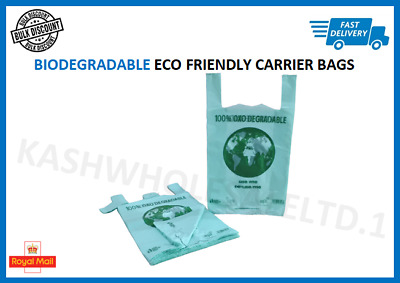 Biodegradable Plastic Carrier Bags Eco-friendly Bag OXO Shop Stall ALL SIZES
