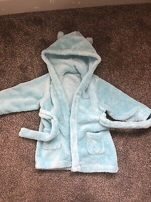Stunning Baby Boys Personalised REGGIE Dressing Gown 12+ Months