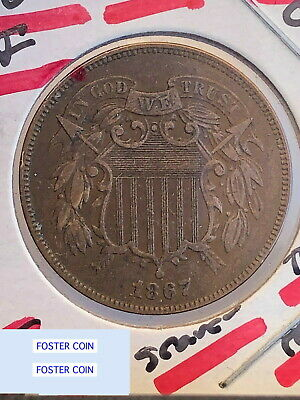 1867 Post Civil War Era 2 Cent Piece CHOICE XF+ Old USA CLASSIC COIN-NOT CLEANED