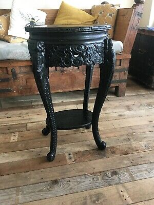 Antique Chinese Oriental Jardinier Stand Side Table, Lamp Table Deliver Possible