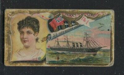 1887 Vintage Duke's Cigarettes Card N83 Ocean and River Steamers Inman Line