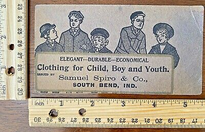 Advertising Samuel Spiro & Co Clothing Store in South Bend, Indiana~129159