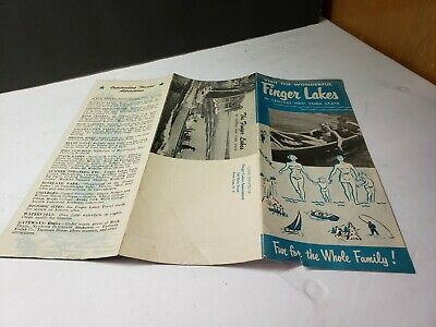 Vintage 1950S Finger Lakes Travel Brochure Lots Of Great Pics