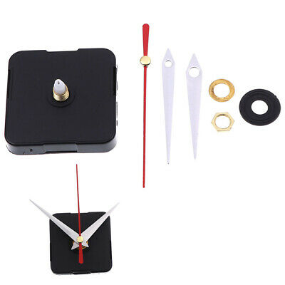 1Set Black DIY Clock Mechanism Parts Classic Hanging Quartz Wall Clock Movem ZT