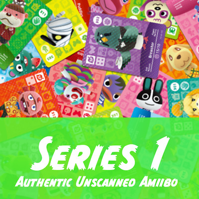 Animal Crossing Amiibo Cards | Series 1 | Authentic and Unscanned
