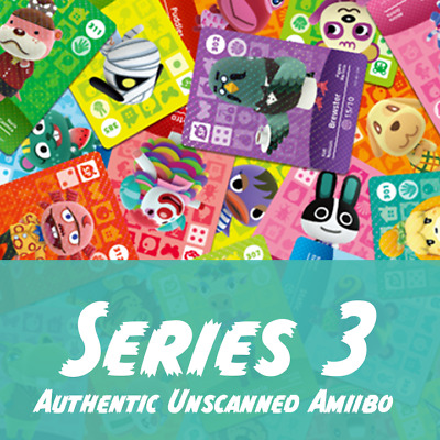Animal Crossing Amiibo Cards | Series 3 | Authentic and Unscanned