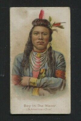 1880's WM. S. Kimball Cigarette Card N189 Chiefs and Rulers Boy-In-The-Water