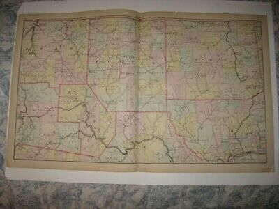 Antique 1871 Potter Tioga Cameron Lycoming Elk County Pennsylvania Handcolor Map