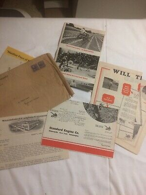 Standard Engine Company Brochures, Neat Tractor Pictures, 1940