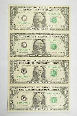 Rare** UNCUT SHEET 2003-A $1 Fed Res Notes Choice Unc Never Cut by Treasury *838