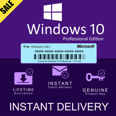 Windows 10 Pro Professional 32 /64 Bit Activation Key Instant Delivery✅