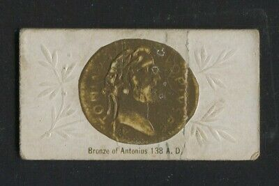 1888 Vintage W. S. Kimball Cigarette Card N180 Ancient Coins Bronze of Antonius