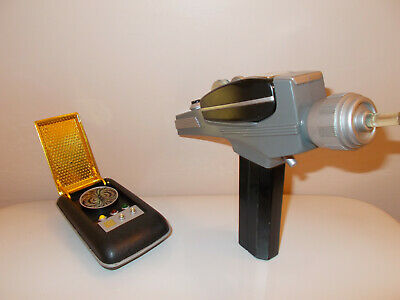 Star Trek phaser and communicator by Playmates 1990's vintage