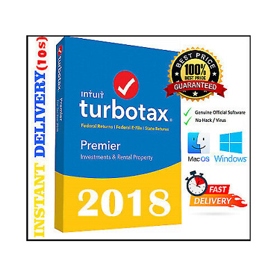 TurboTax Home and Business 2018 Federal + State ?? Windows MacOS Fast Delivery!