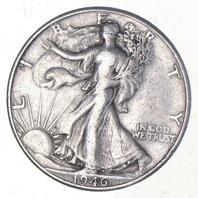 Strong Feather Details - 1946-D Walking Liberty Half Dollar *898