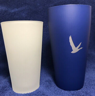 Grey Goose Vodka Stainless Steel & Frosted Glass Cocktail Shaker blue
