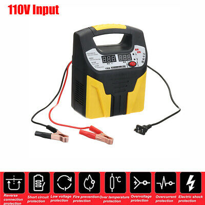 LCD 110V 360W Car Battery Charger Intelligent Pulse Repair Jump Starter Booster