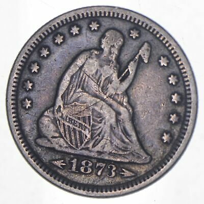 1873 Seated Liberty Quarter - Charles Coin Collection *945